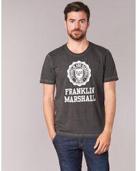 Franklin & Marshall - Gray Olimapa Men's T Shirt In Grey for Men - Lyst
