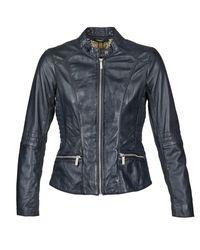 Oakwood | 61823 Women's Leather Jacket In Blue | Lyst