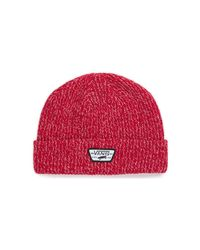 Vans Gorro Mini Full Pacht Beanie Rojo Y Blanco Women's Beanie In Red