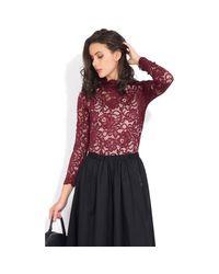 Yours Paris Long Sleeve Lace Blouse Women