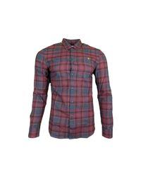 Farah Waithe Slim Ls Bd Shirt Men's Long Sleeved Shirt In Red for men
