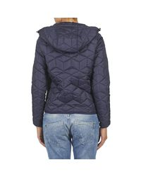 G-Star RAW New Meefic Quilted Hdd Overshirt Women's Jacket In Blue