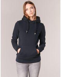 Bench Her.hoody Corp Logo Back Women's Sweatshirt In Black