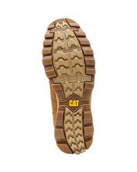 Caterpillar Cat Sire Waterproof Nubuck Boots In Brown Sugar P720692 Men's Mid Boots In Brown for men