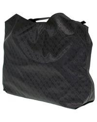 Borsa a tracolla SOFTY SACCA in tessuto e pelle nero di Gherardini in Black