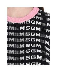 MAILLE FEMME Pull MSGM en coloris Black