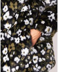 FLORAL Manteau MICHAEL Michael Kors en coloris Black