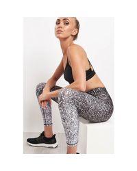 Terez Black White Glitter Performance Leggings - Xs Black Women's Tights In Black