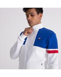 Sweat zippé Tricolore hommes Sweat-shirt en blanc Le Coq Sportif pour homme en coloris White