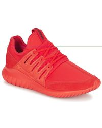 TUBULAR RADIAL femmes Chaussures en rouge Adidas en coloris Red