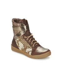 KOMBIBOOT femmes Boots en Marron Think! en coloris Brown