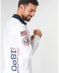 U.S. POLO ASSN. Polo Shirt Korte Mouw Kasper Polo in het White voor heren