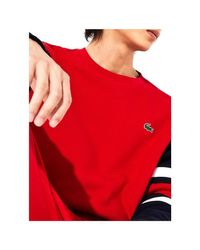SWEATS SH8654 Sweat-shirt Lacoste pour homme en coloris Red