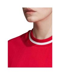 CROPPED TEE T-shirt Adidas en coloris Red