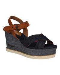 Wrangler Wl171680 Wedge Sandals Women Blue Women's Sandals In Blue