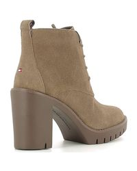 Tommy Hilfiger - Natural Fw56821576 Ankle Boots Women Beige Women's Low Ankle Boots In Beige - Lyst