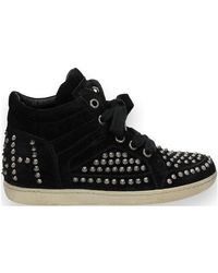 CALFSUEDE femmes Chaussures en Noir Ash en coloris Black