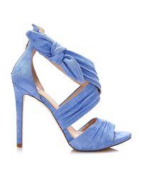 Guess Flazl2 Sue03 High Heeled Sandals Women Blue Women's Sandals In Blue