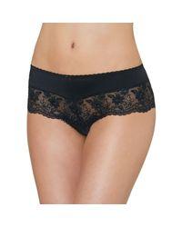 Aubade - Black Shorty Saint Tropez Rive Gauche Passion Women's Shorts In Black - Lyst