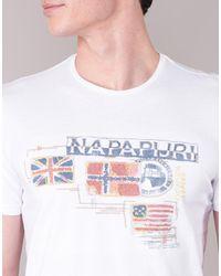 Napapijri - Vintage Men's T Shirt In White for Men - Lyst