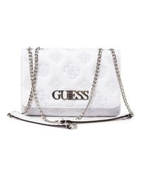 Pochette G Chic Convertible Flap Guess en coloris White