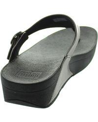 Fitflop - Metallic The Skinny Women's Flip Flops / Sandals (shoes) In Silver - Lyst