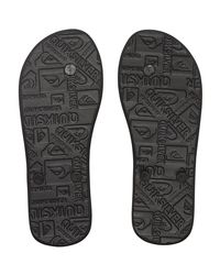 Quiksilver Molokai - Chancletas Men's Flip Flops / Sandals (shoes) In Black for men
