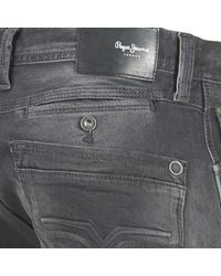 Pepe Jeans Gray Spike Men's Skinny Jeans In Grey for men