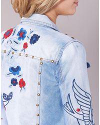 Desigual Blue Pourela Denim Jacket