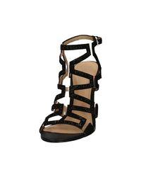 Guess Flpd32 Lel03 High Heeled Sandals Women Black Women's Sandals In Black
