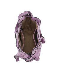 Sac Bandouliere Sac bourse Obstacle cuir OBSTACLE 709-00EOBS09 Etrier en coloris Purple