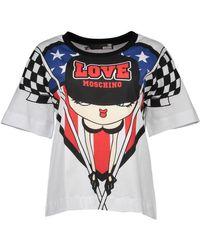 Love Moschino White T-shirt Short Sleeves Women T Shirt