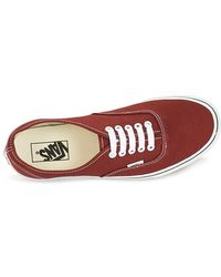 Vans Authentic Men's Shoes (trainers) In Red for men