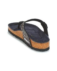 Birkenstock Teenslippers Gizeh in het Black