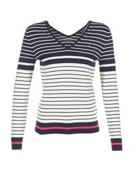 Tommy Hilfiger | Ivy Double V-nk Swtr Women's Sweater In Blue | Lyst