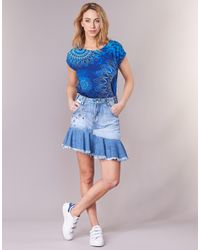 Desigual Blue Celouc Skirt
