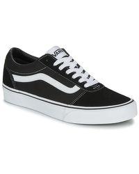 Vans Lage Sneakers Ward M in het Black voor heren
