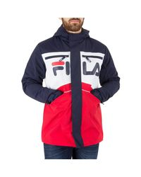Fila Vintage Blue Men's Linden Cut And Sew Jacket, Multicoloured Men's Jacket In Multicolour for men