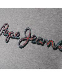 - femmes T-shirt en Gris Pepe Jeans en coloris Gray