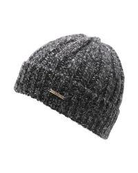 Bonnet Crest Hill Cachemire anthracite-13 Bonnet Stetson en coloris Black