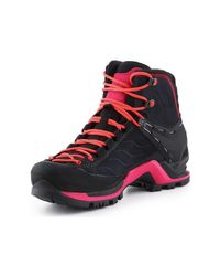 Salewa Black Trekking Shoes Ws Mtn Trainer Mid Gtx 63459-0989 Walking Boots
