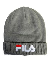 Fila Gray Cap Slouchy Beanie 686002 Light Grey Women's Beanie In Grey