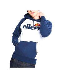 SHC07394-WHITE Sweat-shirt Ellesse pour homme en coloris Blue