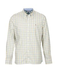 Tommy Hilfiger Iggy Chk Cf3 Men's Long Sleeved Shirt In White for men