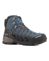 Salewa Ms Alp Flow Mid Gtx 63424-0940 Men's Walking Boots In Blue for men