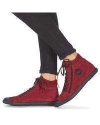 Pataugas Hoge Sneakers Bono in het Red