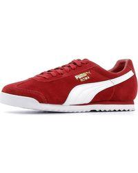 Spartoo Lage Sneakers Roma Suede in het Red