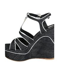 Gianvito Rossi Women's Gn367085ricdnabubi Blue Fabric Sandals