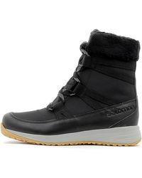 Salomon Laarzen Heika Cuir Cs Wp Femme in het Black