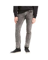 Levi's Gray Levis Men's Line 8 Slim Taper Jeans, Grey Men's Skinny Jeans In Grey for men